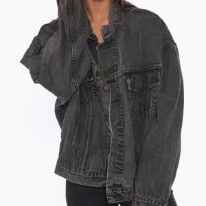 Levi's Faded Black Vintage Trucker Jean Jacket